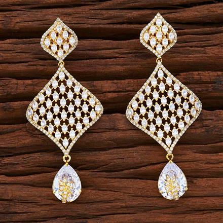 54863 CZ Classic Earring with gold plating