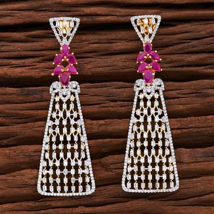 54864 CZ Classic Earring with 2 tone plating