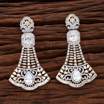 54866 CZ Classic Earring with 2 tone plating
