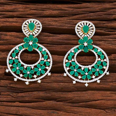 54867 CZ Classic Earring with 2 tone plating