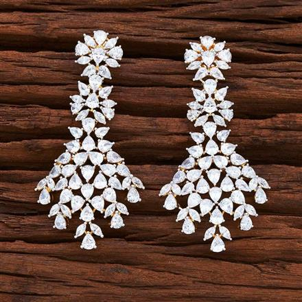 54868 CZ Classic Earring with 2 tone plating