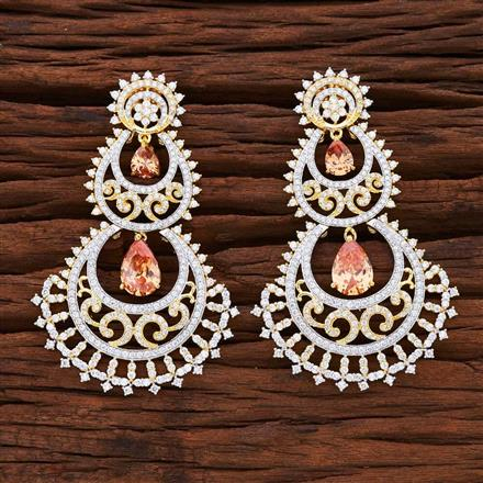 54869 CZ Classic Earring with 2 tone plating