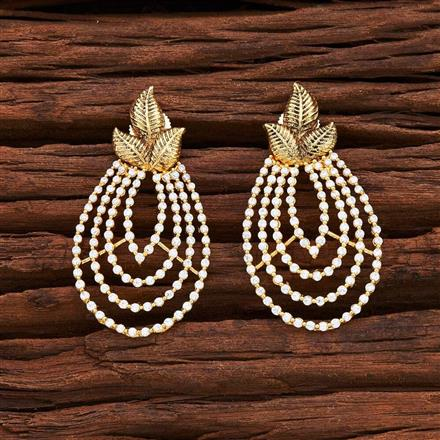 54870 CZ Short Earring with gold plating