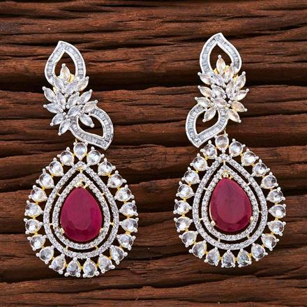 54871 CZ Classic Earring with 2 tone plating
