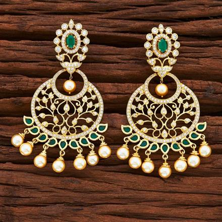 54872 CZ Classic Earring with gold plating