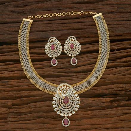 54883 CZ Classic Necklace with 2 tone plating