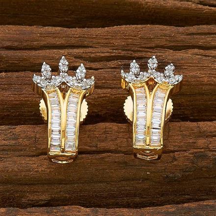 54910 American Diamond Bali with 2 tone plating