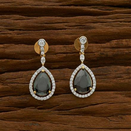 54924 CZ Delicate Earring with 2 tone plating