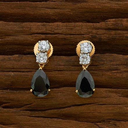 54926 CZ Delicate Earring with 2 tone plating
