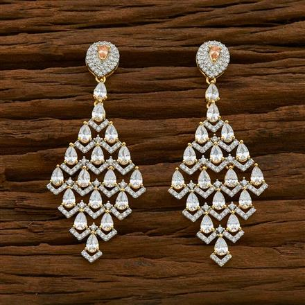 54927 CZ Classic Earring with 2 tone plating
