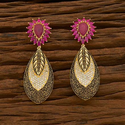 54928 CZ Classic Earring with gold plating