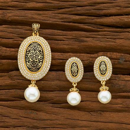 54948 CZ Classic Pendant Set with gold plating