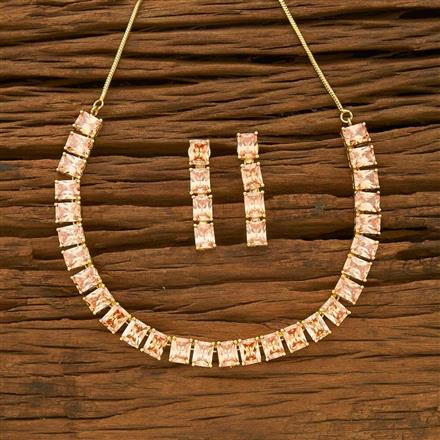 54949 CZ Classic Necklace with gold plating