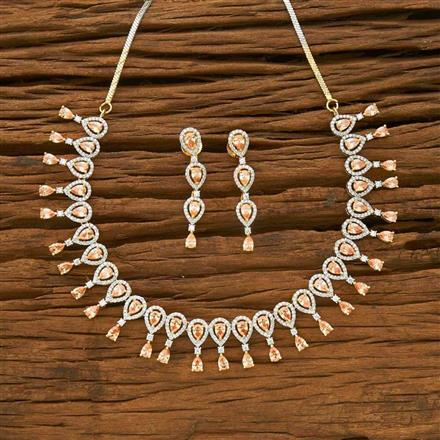 54950 CZ Classic Necklace with 2 tone plating