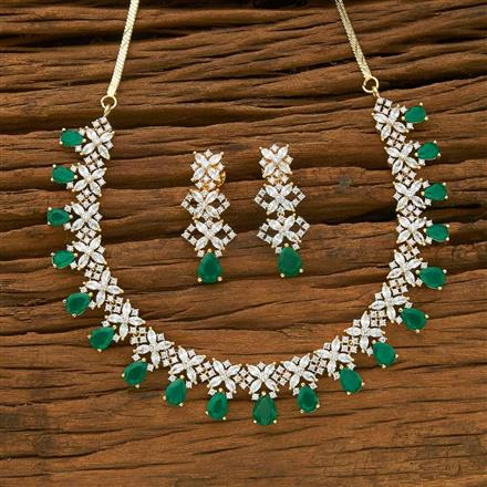 54951 CZ Classic Necklace with 2 tone plating
