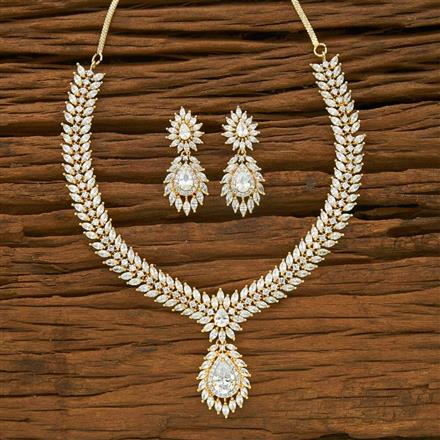 54952 CZ Classic Necklace with 2 tone plating