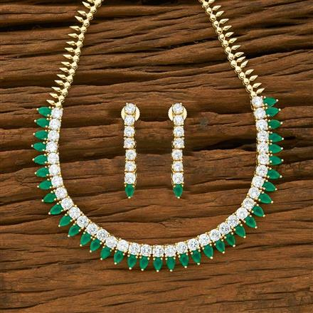 54953 CZ Classic Necklace with gold plating