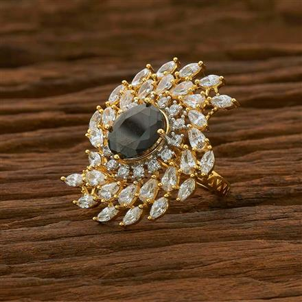 54964 CZ Classic Ring with 2 tone plating