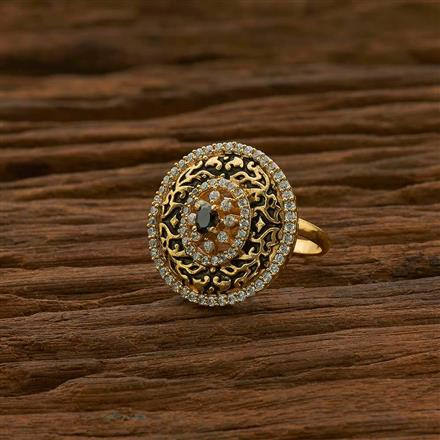 54966 CZ Classic Ring with gold plating