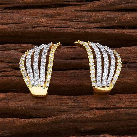 54968 American Diamond Bali with 2 tone plating