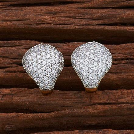 54976 American Diamond Bali with 2 tone plating