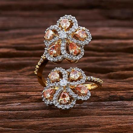 54983 CZ Classic Ring with 2 tone plating