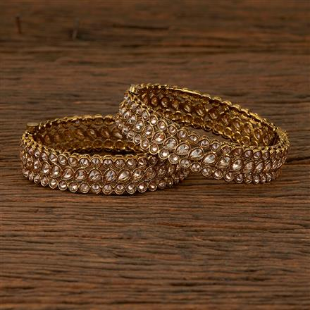 550004 Antique Classic Bangles With Mehndi Plating