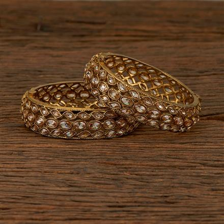 550005 Antique Classic Bangles With Mehndi Plating