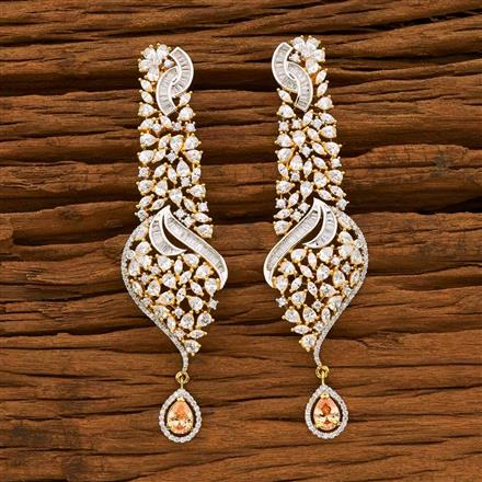 55051 CZ Classic Earring with 2 tone plating