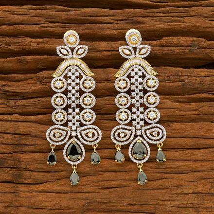 55057 CZ Classic Earring with 2 tone plating