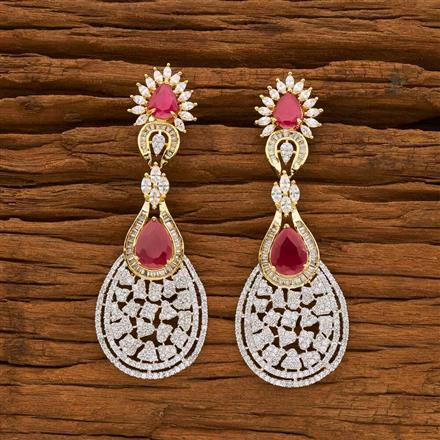 55058 CZ Classic Earring with 2 tone plating