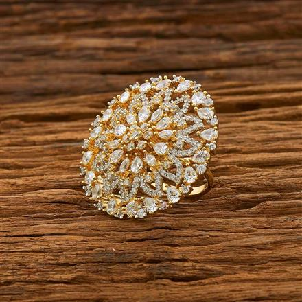 55099 CZ Classic Ring with 2 tone plating