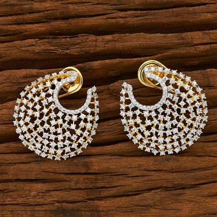 55114 CZ Chand Earring with 2 tone plating