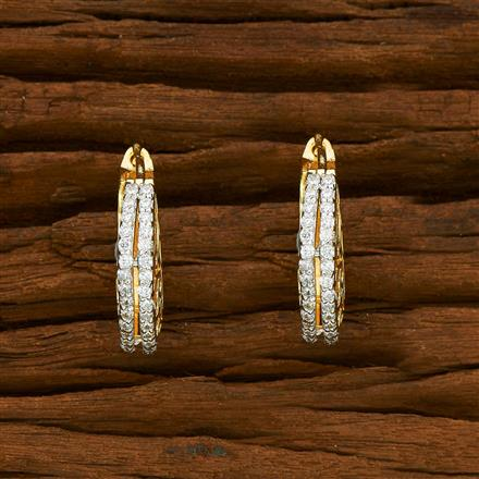 55328 American Diamond Bali with 2 tone plating