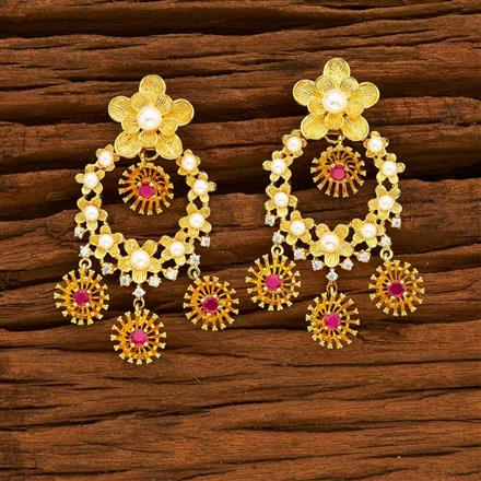 55343 CZ Classic Earring with gold plating