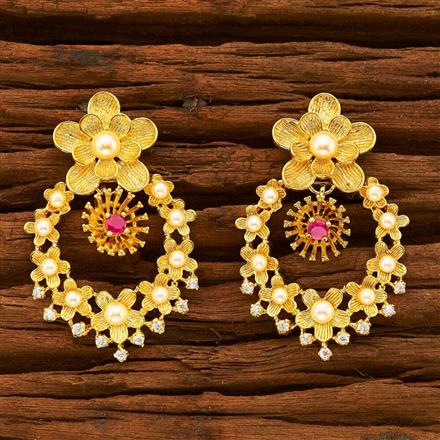 55348 CZ Classic Earring with gold plating