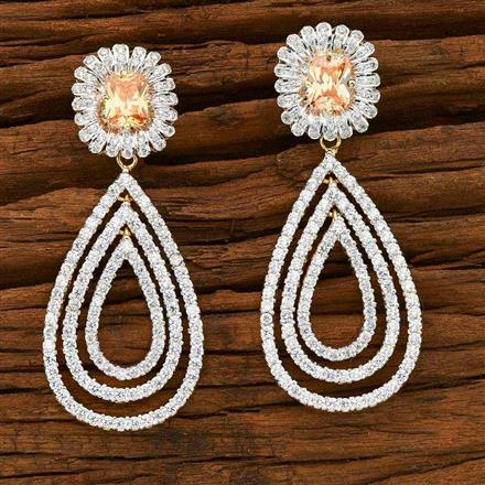 55350 CZ Classic Earring with 2 tone plating