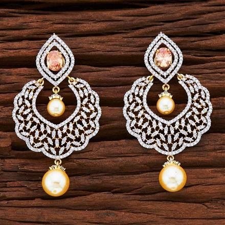 55439 CZ Classic Earring with 2 tone plating