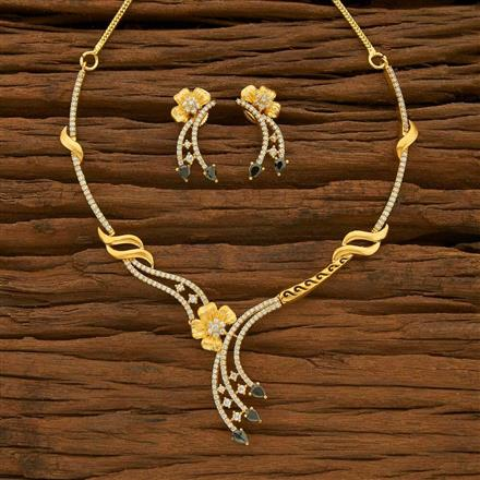55541 CZ Classic Necklace with gold plating