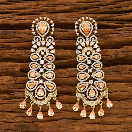 55636 CZ Classic Earring with 2 tone plating