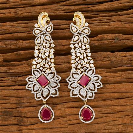 55640 CZ Classic Earring with 2 tone plating
