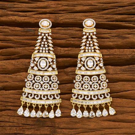55641 CZ Classic Earring with 2 tone plating
