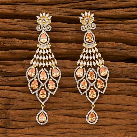 55642 CZ Classic Earring with 2 tone plating