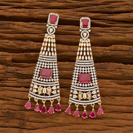 55643 CZ Classic Earring with 2 tone plating
