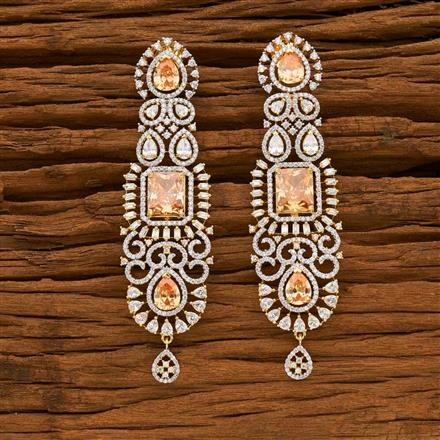 55644 CZ Classic Earring with 2 tone plating