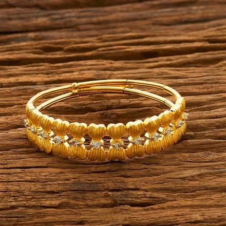 55662 CZ Delicate Kada with gold plating