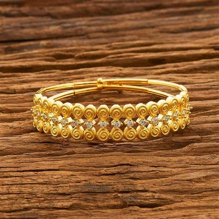 55663 CZ Delicate Kada with gold plating