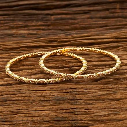 55667 CZ Classic Bangles with gold plating