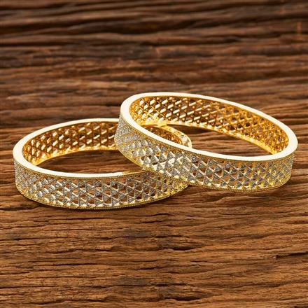 55683 CZ Classic Bangles with 2 tone plating