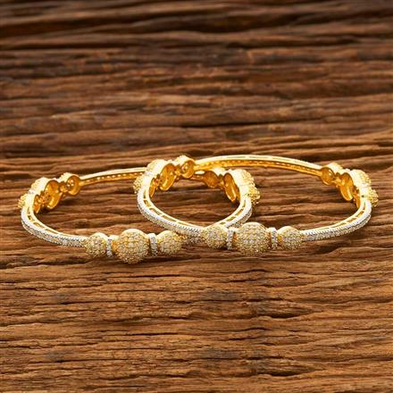 55684 CZ Classic Bangles with 2 tone plating
